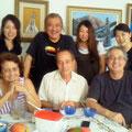 Jorginhoのご家族と記念写真☆左の方が奥様のNeusa(ネウザ)さんです。