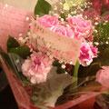 お客様から頂いたお花です。