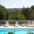 Vue sur terrasse - La Garrigue Dordogne