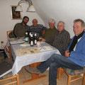 v.l. Reinhard Nawrotzky, Horst Bartels, Gerd Voß, Manfred Amenda, Dr. Scheck