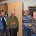 Im Engländerarchiv,v.l.Dr. Scheck, Gerd Voß, Horst Bartels Manfred Amenda