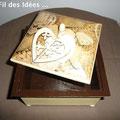 """Boîte à bijoux """"Coeur gros comme ça !' - 30 x 30 cm - Création Déc 2010 / Janv 2011"""