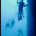 Plongeurs au bord du tombant  - Archipel de Riou - Mai 13 © Florian Bernier