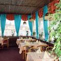 Das Restaurant mit Bick auf Schlei Dom und Segelhafen.