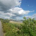 Blick vom RIVA über die Promenade bis zum St.-Petri-Dom.