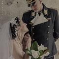 La sposa indosa un vestito della stilista e costumista Yvonne Vionnet