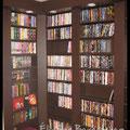 Éli-San Bernatchez. Rangement 1600 DVD sur mesure. Dessiné en collaboration avec Annick Dufresne de Créations Addap (www.creationsaddap.com)