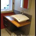 Éli-San Bernatchez. Meuble lavabo sur mesure. Dessiné en collaboration avec Annick Dufresne de Créations Addap (www.creationsaddap.com)