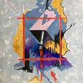 """14 / GIANNI D'ADDA, """"COMPOSIZIONE"""", 20 x 30 cm."""