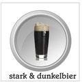 Starkbier: sind vollmundige, in der Regel untergärige Biere, die einen Alkoholgehalt von über 6%, Doppelbock (mit der Endung -ator) sogar über 7% aufweisen. Oft gelten sie noch als Fastenbiere und werden meist in der kälteren Jahreszeit ausgeschenkt