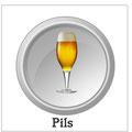 Pils: Untergäriges, schlankes Bier von hellgelber Farbe und feinsahnigem Schaum. Es ist oft ausgeprägt hopfenbitter, häufig auch mit Hopfenaroma. Der Stammwürzegehalt von Pils liegt meist zwischen 11 und 12 Prozent.