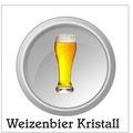 Kristallweizen: Obergäriges aus Gersten- und Weizenmalz gebrautes, fruchtiges Bier. Weizenbiere sind sehr spritzig durch ihren hohen Kohlesäuregehalt, malzaromatisch und schwach gehopft. Stammwürzegehalt liegt zwischen 11,5 und 13 Prozent