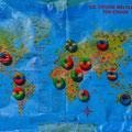 2. Platz (Mittelstufe) Rund um die Welt - Eine Weltreise zum Anbeißen von Catharina K., Maria G. und Rebecca K.