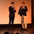 Christian und Ferrenc an den Blockflöten