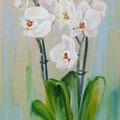 """""""De orchideeen"""" 2018, olieverf op linnen, 30x60cm, NIET BESCHIKBAAR"""