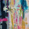 Nerines, acryl en olieverf op schildersdoek, 30x40cm, prijs 400,00