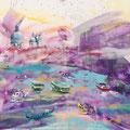 Venetie, acryl en inkt op schildersdoek, 90x120cm