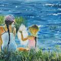 """""""De suikerspin"""", olieverf op canvas, 30x40cm"""