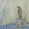 In het gras, potlood en inkt op papier, ingelijst, prijs 215,00e