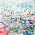 Reykyavik, acryl en inkt op schildersdoek, 90x90cm