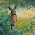 """""""De wildleven"""" 2018, acryl en inkt op canvasdoek, 50x70cm  NIET BESCHIKBAAR"""