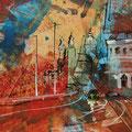 """Amsterdam"", acryl en inkt op papier, 21x15cm"