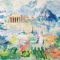 Athene, acryl en inkt op schildersdoek, 90x120cm