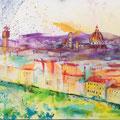 Florence, acryl en inkt op schildersdoek, 90x120cm