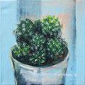 """De cactus"" 2018, acryl op canvasdoek, 20x20cm"