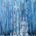 Witte dame 2019, acryl op canvas, 60x120cm, prijs 1000,00e