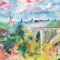 Luxemburg, acryl en inkt op schildersdoek, 90x120cm