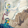 Hopi Dancer - acryl and sand on canvas - NTK