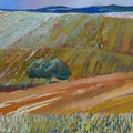Summer in the Alentejo - acryl and sand on canvas