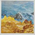 Rochas de Zambujeira - acryl and sand on canvas - 40 x 40 cm