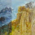 Rochas de Zambujeira - acryl and sand on canvas - 80 x 65 cm