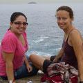 Clarisse und Heike am Pedra Do Arpoador in der Nähe vom Ipanema Beach