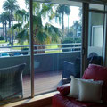 Blick auf unseren Balkon