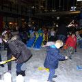 Damit die Melbourner Kinder auch mal Schnee erleben... Und ja, es ist wirklich Schnee und kein Sand!