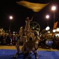 Zirkusaufführung in den Docklands