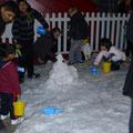Es reicht sogar für einen kleinen Schneemann...