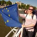 Laure und Holger bei einer Bootstour über die Seine
