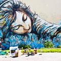 Alice Pasquini (IT) - Rue de Guilers/Rue Shakespeare - Photo : My Te