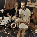 Georg Henke/keys, Volker Wadauer/bass, Peter Natterer/sax