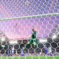 Iceland's goalkeeper Hannes Thor Halldorsson saves a ball during Euro 2016 between England and Iceland at the Allianz Riviera stadium in Nice on June 27, 20