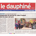 Article du Dauphiné.