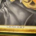 34 : Pose du cartel sur le cadre pour une finition complète du tableau.