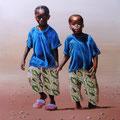 jeunes sénégalais 46 x 38 don à l'association art d'échange