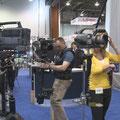 Am Stand von Glidecam auf der NAB 2008 in Las Vegas
