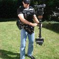 Glidecam Gold System bei der Schulung für zwei Kameraleute aus Köln