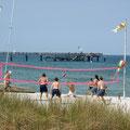 Beachvolleyball an der Seebrücke
